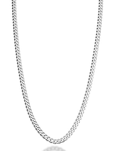 - MiaBella Solid 925 Sterling Silver Italian 5mm Diamond Cut Cuban Link Curb Chain Necklace for Women Men, 16
