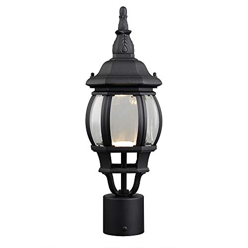 Canterbury Ceiling Light - Design House 578675 Canterbury II LED Outdoor Post Top Light, Black