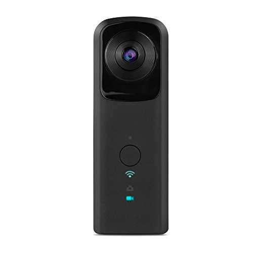 YUNTAB 360-Degree Panoramic Camera WiFi 2.0The Aperture 1080P/720P Video 1400mAh Two 210-Degree Ultra Wide Angle Fisheye Lens Panoramic VR Cam(361-BLACK) For Sale