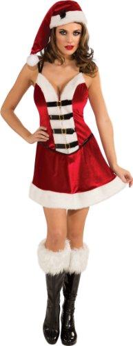 Santa Playboy Costume (Secret Wishes Playboy Santa Baby Costume, Multi,)