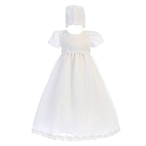 - Girls Organza Christening Baptism Dress (3-6 mo)