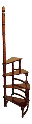 English Design Mahogany Finish Spiral Library Steps JI-33350 ~ New