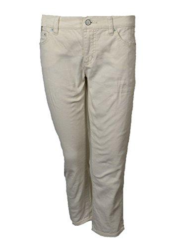 Lauren Ralph Lauren Women's Modern Straight Cropped Jeans (6P, Natural)