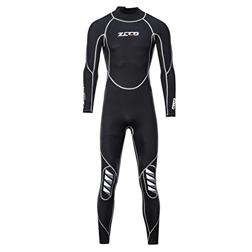 JINGJIE Diving Wetsuits, 3MM Wetsui Men Thickening Keep Warm Swimsuit Snorkeling Siamese Long Sleeve Jellyfish Clothing…