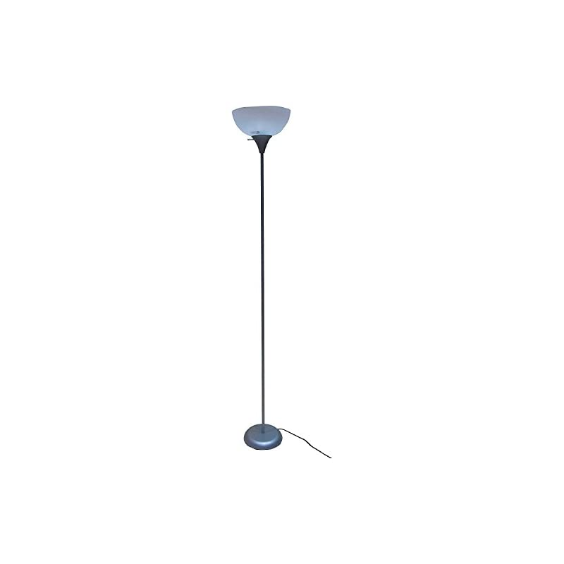 "Mainstays 5' 11"" Floor Lamp, Silver"