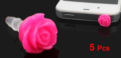 Amazon.com: eDealMax 5 piezas de Rosa Magenta 3,5 mm Para auriculares tapón antipolvo Anti Jack Conector Para el teléfono: Electronics