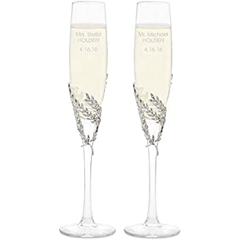 d20a4b7db90 Things Remembered Personalized Athena Pavé Champagne Flute Set with  Engraving Included