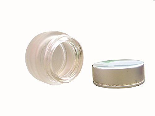3 Pcs 30ml Empty High-grade Frosted Glass Cosmetic Face Cream Container Bottle Storage Jar Pot Vial with Silver Lid