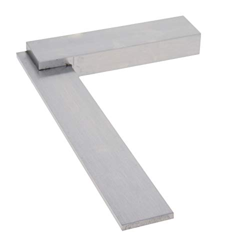 Utoolmart Machinist Square 160x100mm Engineer Square Ruler, Right Angle Solid Inspection Square, Hardened Steel 1 Pcs