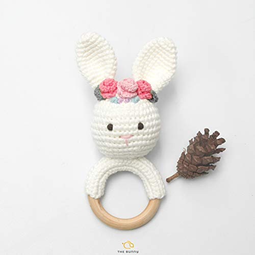 The Bunny Baby Gift Rattle Animals Toddlers Toy Baby Doll - Handmade Toys - Baby Accessories - Crochet Toys - Stuffed Doll (2)