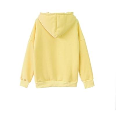 a2fb94318 2017 Womens Cute Harajuku Pastel Yellow Banana Hoodies Sweatshirts ...