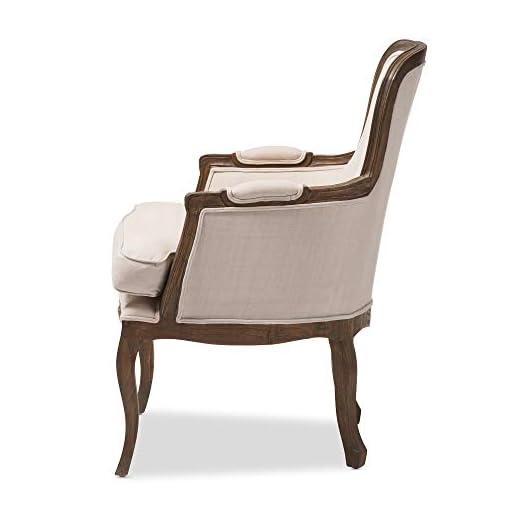 Farmhouse Accent Chairs Baxton Studio Napoleon Traditional French Accent Chair, Ash farmhouse accent chairs