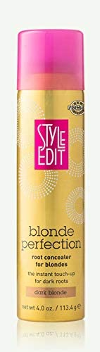 Style Edit DARK BLONDE Root Concealer Touch Up Spray | Instantly Covers Grey Roots | Professional Salon Qualit