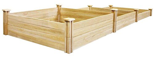 Greenes Fence Stair-Step Dovetail Raised Garden Bed ()
