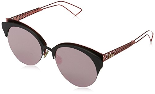 Christian Dior Diorama Club Sunglasses Matte Black Red/Grey Rose Gold - Diorama Sunglasses