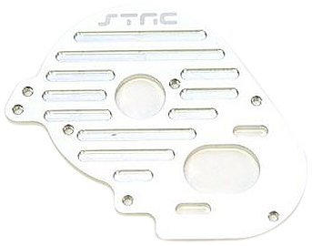 ST Racing Concepts STLA2944S Aluminum Heatsink Finned Motor Plate for The Losi XXX-SCT, Silver