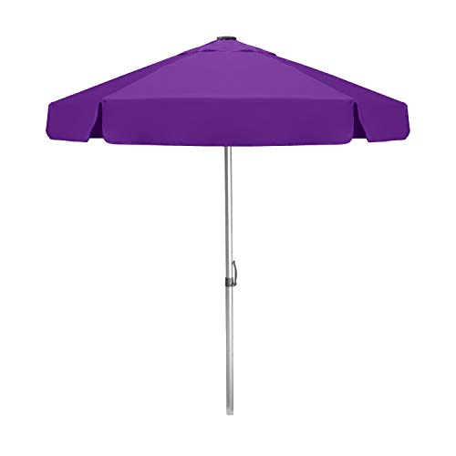 Strombergbrand Umbrellas 'The Vented Bistro' Patio, Large, Commercial-Quality Café-Style Umbrella with Patented Construction, (Base Not Included), Purple