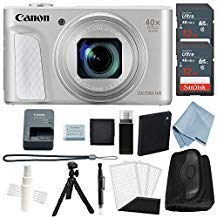 Canon Powershot SX730 HS Bundle (Silver) + Advanced Accessory Kit - Including to Get Started