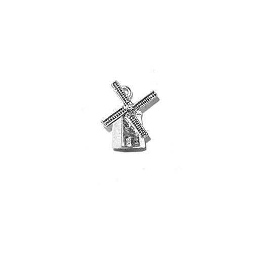 Sterling Silver 3D Windmill Charm Item #835