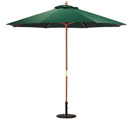 Oxford Garden 9-Foot Polyester Market Umbrella, Hunter Green