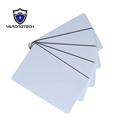 YARONGTECH-125khz writable rewrite blank white T5577 T5557 Plastic RFID hotel key card (Pack of 20)