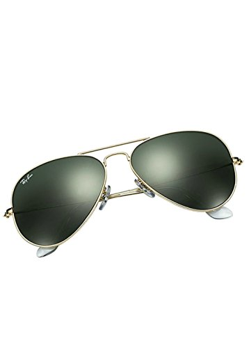 Price comparison product image Ray-Ban AVIATOR LARGE METAL - GOLD Frame GREY GREEN Lenses 58mm Non-Polarized