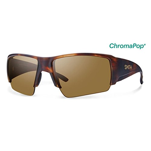 Smith Captains Choice ChromaPop+ Polarized Sunglasses, Matte Havana, Bronze Mirror - Sunglases Smith