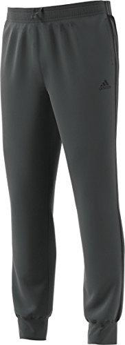 adidas Men's Essential Cotton Fleece Jogger Sweatpants (Dark Grey/Black, Medium)