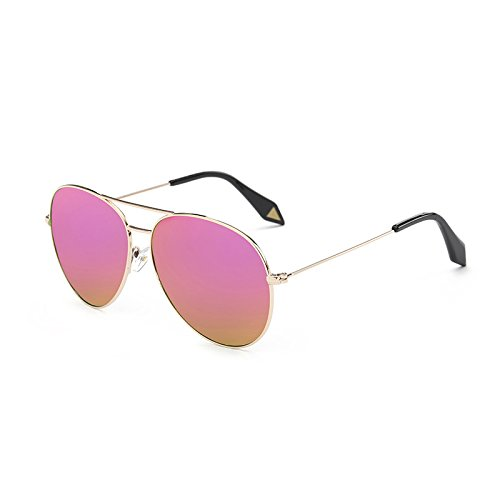 Mirror Models Polarized Gold Frame Men's Couleur Lunettes Color Powder Sunglasses Soleil Star Frame Soleil Film Gold Barbie Powder Tide Retro Box de Générique Glasses Lunettes Cherry de Frog Femmes HEOx4qB