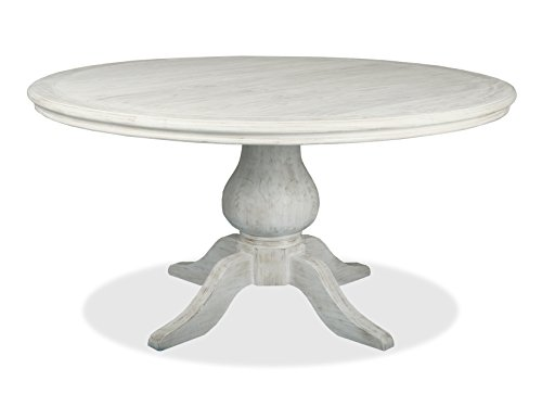 South Cone Home Marseille Round Dining Table, 48 , Vintage White