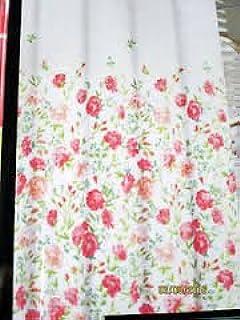 Cynthia Rowley Floral Cotton Shower Curtain Rose Pink Blue Green  Cynthia Rowley Curtains