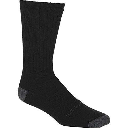 Woolrich Ten-Mile Hiker Solid Socks Black/Grey, XL