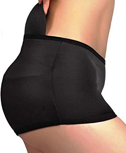 Women Padded Butt Lifter Underwear Pads Hip Enhancer Panties Shapewear Shaper Panty Underpants Seamless Control Briefs (Black, L)
