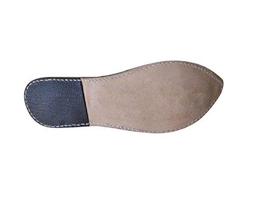 cuero de Creations Chancletas Zuecos Multicolor Zapatos Kalra para mujeres a mano Jutti indios hechos Zuecos xgY0UqFq