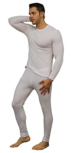 Men's Ultra Soft Thermal Underwear Long Johns Set with Fleece Lined (Large, White) (Thermal Underwear White compare prices)