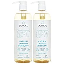 Puracy Natural Liquid Laundry Detergent, Hypoallergenic, Enzyme-Based, Free & Clear, 96 Loads