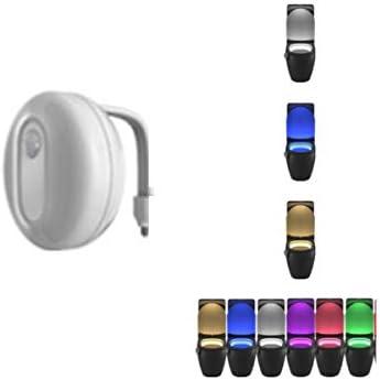 CQIANG インテリジェント誘導トイレライト、人体誘導ランプ、トイレナイトライト (Color : Multi-colored)