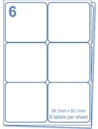 🌟 Etiquetas EJRange 6 por hoja A4, 100 hojas 600 etiquetas Etiquetas de impresora de envío de direcciones autoadhesivas totales
