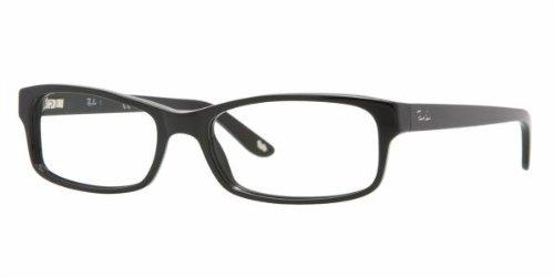 Ray-Ban Rx5187 Rectangular Eyeglasses,Shiny Black,50 - Girl For Ray Glasses Ban