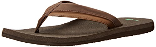 Sanuk Cozy Beer Dark Brown Zehentrenner Light rPBqRrw