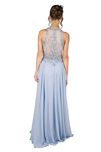 1022801 langes Kleid Ice Blue ohne Dynasty Ice Cierra Blau Stil Damen Schal Spirit qXFvwUH