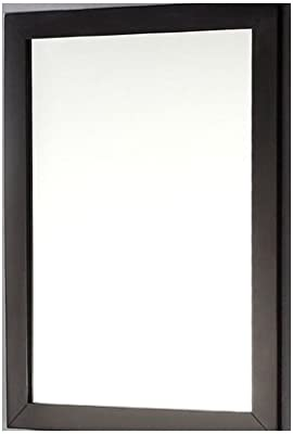 Svitlife Modern 22-inch x 30-inch Bathroom Vanity Wall Mirror with Black Wood Frame Mirror Wall Vanity Bathroom W Framed Led Lighted Touch Button Make Up New
