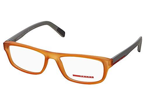 (Prada Unisex 0PS 06GV Transparent Orange Rubber One Size)