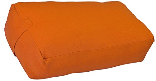 YogaAccessories Supportive Rectangular Cotton Yoga Bolster