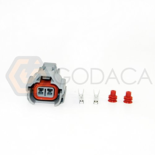 (1 X Nippon Denso Fuel Injector Connector Helix 1jz 2jz Toyota W/out Wire Top)