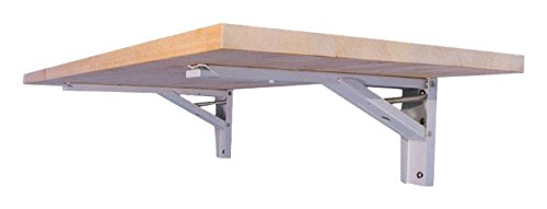 Wood Top Work Table - The Quick Bench folding wall mounted workbench with 20