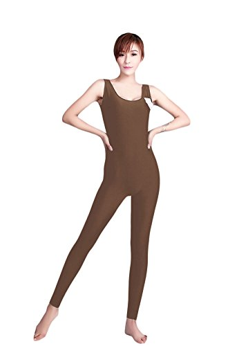 WOLF UNITARD Tank Unitard Dance Wear Bodysuit Medium Brown (Circus Dance Costumes)