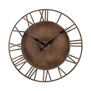 Sterling 128-1002 Metal Roman Numeral Outdoor Wall Clock, 32-Inch, Parity Bronze