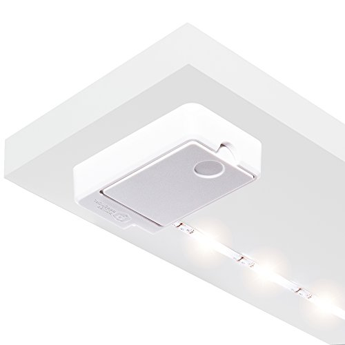 Luminoodle Click | Battery Powered LED Tap Light Strip for Closet, Pantry, Shelf Lighting | AA-Powered 36 in. Wireless Stick Anywhere Adhesive String Push Lights - Warm White (2700K) - Led Battery Strip Light