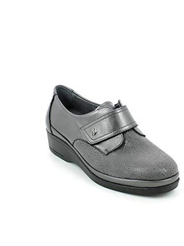 Strappo Tessuto Pantofola Con Pelle Grigio In E Florance a1cZn0w0